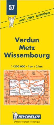 Carte routière : Verdun - Metz - Wissembourg, 57, 1/200000