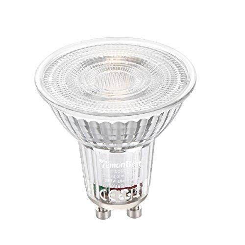GU10 LED Spotlight Birnen, ONEVER 5W 500 Lumen Warmweiß Dimmbare Spotlight Birnen 35W Halogenlampen äquivalent, AC 120V (1)