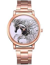 Reloj Elegante para Mujer Dial del patrón del Caballo Caja de ...