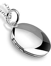 Promociones chapado en plata colgante Lockets collares para las mujeres, niñas, hombres para fotos 45cm cadenas