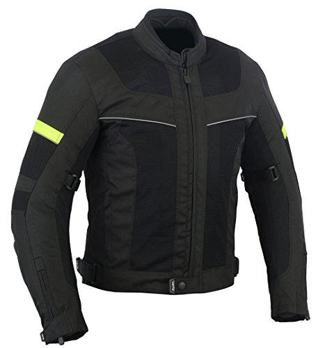 LOVO Chaqueta tricapa perforada de verano para moto (Hombre) (L)