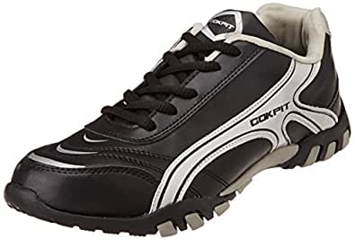 Cokpit Men's Black and Grey Running Shoes - 6 UK (CTJM 0213)