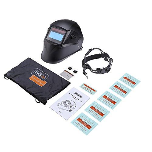 tacklife pah01d Casco de soldar autom/ático con 4/sensores para todas las Aplicaciones sudor Sudor Casco incluye 6/objetivos i Solar sudor M/áscara niveles de protecci/ón 9//–/13 /óptico Clase: 1//1//1//1