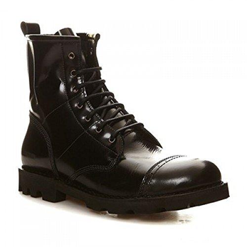 Diesel Damen Boots Stiefeletten D-KOMBATT Schwarz (EUR 38, Schwarz) (Schuhe Stiefel Diesel)