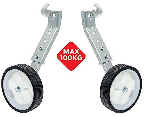 CicloSportMarket Stützräder-Paar für Räder von 20 bis 26 Zoll, Traglast 100 kg