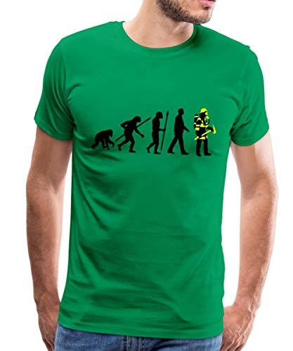 Spreadshirt Feuerwehrmann Evolution Feuerwehr Männer Premium T-Shirt, XL, Kelly Green -