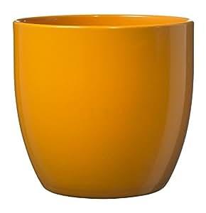 Soendgen Cache-pot en céramique Dover, Basel Full Color, Argile, apfelsine, 14 x 14 x 13 cm