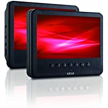 "Akai APD710T - Reproductor de DVD portátil (pantalla LCD de 7"", USB, MP3, Dolby Digital), color negro"