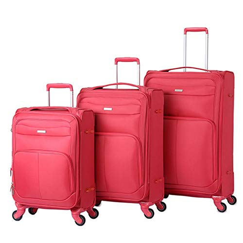 Vergrößerbares Gepäck 3-teilige 20-Zoll-24-Zoll-28-Zoll-Gepäckstücke verschachtelt mit TSA-Schloss Oxford-Stoff Softside Carry-On Erweiterbare Pfosten Koffer Softshell Leichte 360   ° Silent Spinner M (Samsonite Luggage Lock Set)
