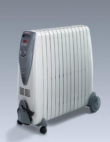 DeLonghi KG011225R - Radiador de aceite rápido de 2500 W, color gris