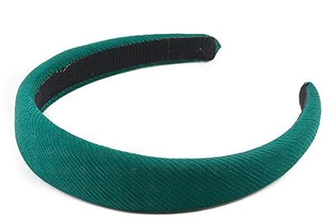 Mytoptrendz® Green Padded Wide Headband Hair Band Soft Ribbed Alice Band Headband Green