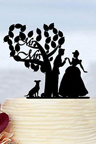 Árbol de boda figuras de Señor y señora, boda, para tartas novia y novio con perro