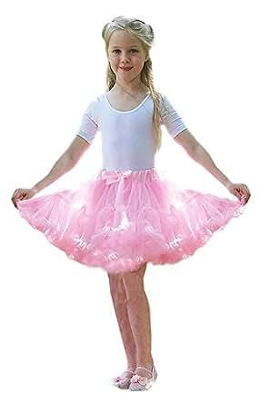 Girls Frothy Tutu Skirt Childrens Ballerina Fancy Dress Accessory