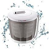 CJSWT 2-in-1 Mini Lavatrice e centrifuga, può Contenere Fino a 2 kg, Portatile a manovella Non-Top Elettrico Rondella per Il Campeggio, Caravans