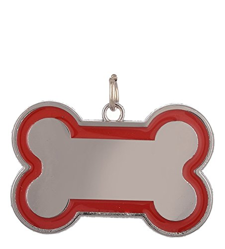 SRI Bone Shape Collar Tag Cum Pendant, Multicolor (Small)