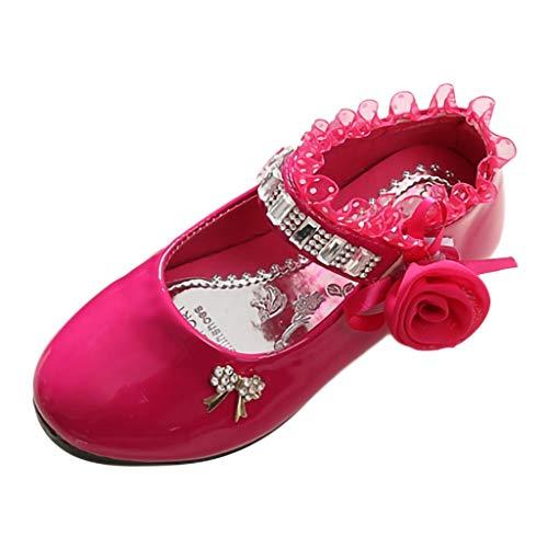 Kinder MäDchen, GroßE Kinder, Strass, Blumen, Spitze, Tanzschuhe, Prinzessin Schuhe, Einzelne Schuhe,Kinder Kleinkind Schuhe Infant Baby MäDchen Kristall Leder Einzelne Schuhe Party Single Schuhe
