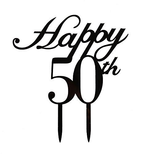 Happy 50. Cake Topper, 50. Geburtstag/Hochzeitstag Party decorations-black Color