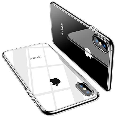 TORRAS iPhone X Hülle [Nur für iPhone X], Silikon Durchsichtig Ultra Dünn Schutzhülle Transparent Handyhülle [ Kratzfest ] Klar Soft Slim Gel Case TPU Clear Bumper Handy Hulle für iPhone X - Klar - Transparentes Gel Case