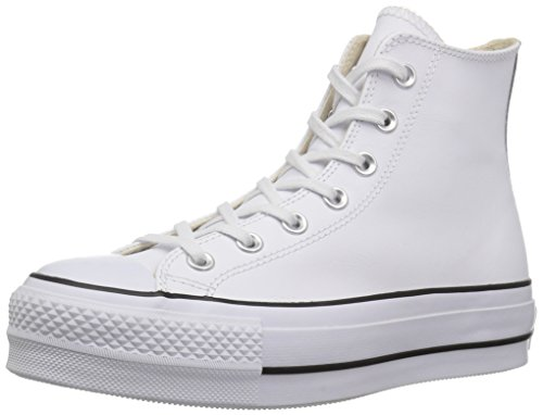 Converse Damen Chuck Taylor All Star Lift CLEAN Sneakers, Weiß Black/White 102, 36.5 EU -