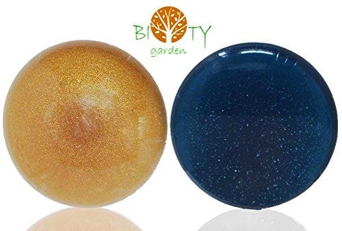 Preisvergleich Produktbild biOty garden Pack Handgemachte Algen Loofah Seife Feuchtigkeitspflege Weich Scrub 2x150 g Gesicht, Hand, Körperwäsche - Geschenk - made in Bretagne