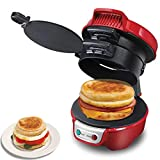 Breakfast Maker 2-in-1,Large Non-Stick Plates Sandwich Toaster,Health Grill Deep Fill Sandwich Maker for Party with Automatic Constant Temperature