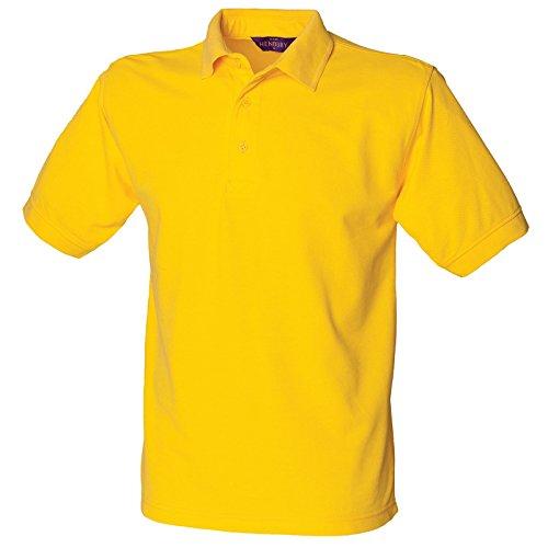 Henbury Herren Modern Poloshirt Gelb