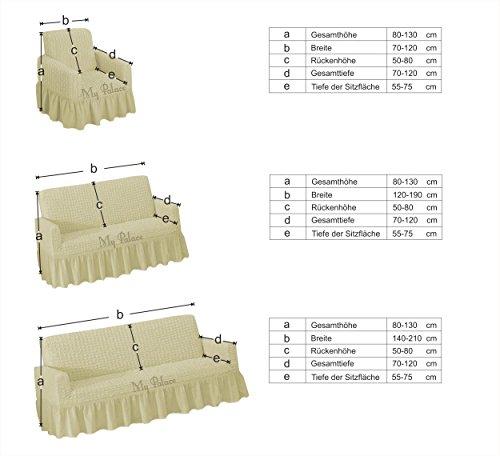 Stretch 2 Sitzer Bezug, 2 Sitzer Husse aus Baumwolle & Polyester. Sehr elastische Sofaueberwurf in grau / grey / gri. Sofabezug Hussen Sofahusse Stretch Husse / Stretch Hussen / Sofahusse 2-Sitzer / Sofabezug 2 Sitzer - 2