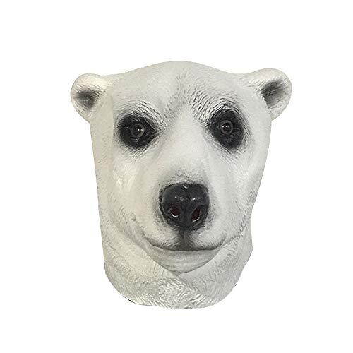 Lustige Eisbär Kostüm - Sherineo Halloween Maske, Latex Masken Tiermaske, Kostüm Halloween Kostümzubehör Lustige Maske (Eisbär)