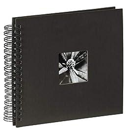 Hama Fine Art Album Fotografico a Spirale, 50 Pagine, 28 x 24 cm, colore nero