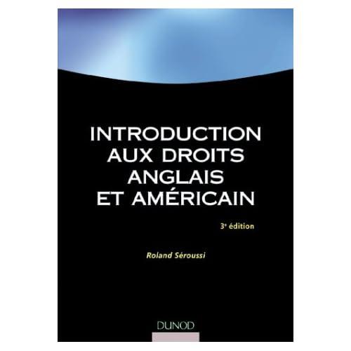 Introduction aux droits anglais et américains
