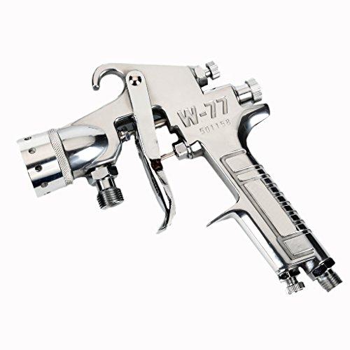 Preisvergleich Produktbild Valianto W-77 Farbig Spritzpistole Farbsprühsystem Lackierpistole Silber 2.5mm