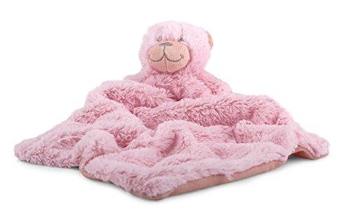 1 x Baby Schmusetuch BÄR ROSA Kuscheltuch Babytuch Kuscheltier Nr.1 Tuch Sonnenscheinschuhe®