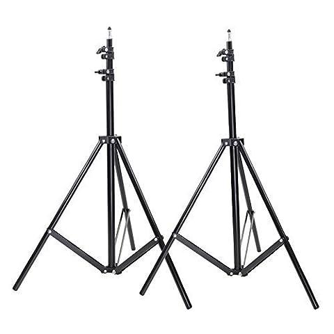 Neewer® Support d'Éclairage Fixation de Lampe Lumière 9 Pieds 260cm Photo Studio pour Vidéo Portrait Photographie (2 Pièces)