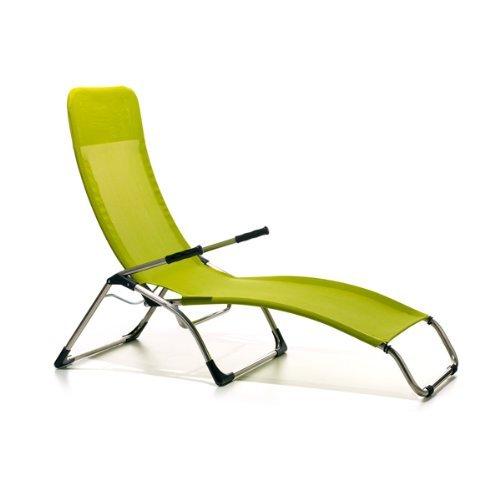 Jan kurtz chaise longue samba-pistache matthias philipps vert pistache/citron vert, aluminium, textilène (fibres de polyester gainées de pVC) imperméable et anti-uv pour enfant