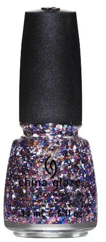 China Glaze Esmalte de uñas con endurecedores - 3D Glitter afecta - Su presencia será necesaria, Paquete 1er (1 x 14 ml)