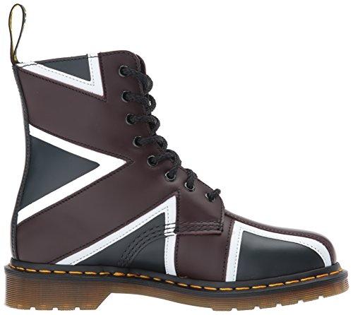Dr.martens Womens Pascal Brit 8-eye Leather Boots Noir