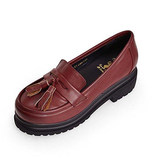 la chute de la plate-forme chaussures/Chaussures femme/Brosser dans des chaussures à semelle épaisse/Chaussures de loisirs coréen A