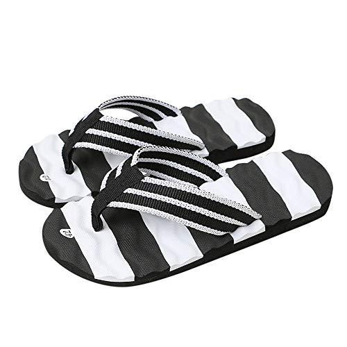 Moika uomo estate sandali pantofola al coperto outdoor flip-flop scarpe da spiaggia (265/44, nero)