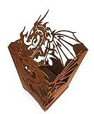 Edelrost Feuerkorb Drache viereck mit Ascheablass 65cm FA10187
