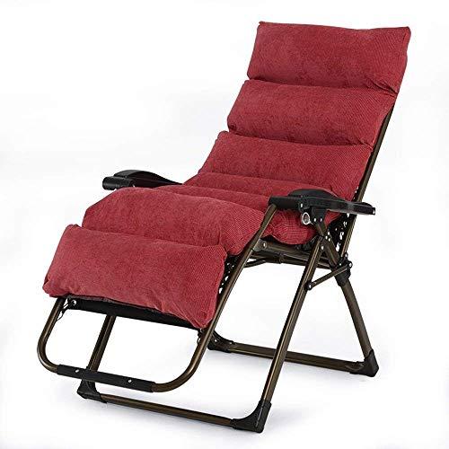 CCDZDM Liegen, Schwerelosigkeit Outdoor Klappsessel Einstellbare Rasenterrasse Liegestühle Für Travel Yard Beach Pool Unterstützung 350Lbs (Rot)