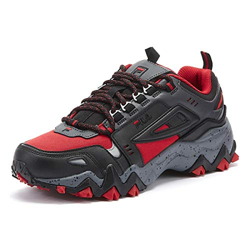 Fila Oakmont Trail Hombres Rojo/Negro Zapatillas-UK 8 / EU 42