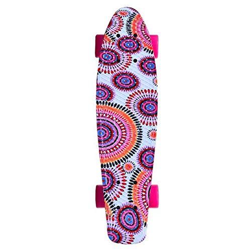 MONi Kinder Skateboard Hippie 22, 80A PU Rollen, ABEC 7 Lager, rutschfeste Oberfläche