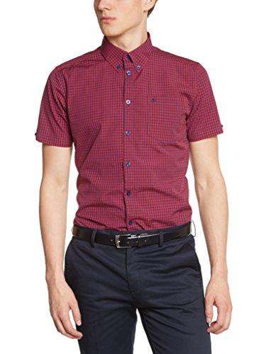Merc London Herren Regular Fit Smoking Hemd Rot - Rouge (Red/Blue)