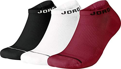 X NS 3PR Socks, Black/White/Gym red, M ()