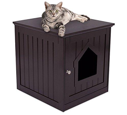 Internet 's Best Deko Katze, House & Beistelltisch | Katze Home Nachttisch | Innen Pet Box | Katzentoilette Gehäuse | Katzenhöhle