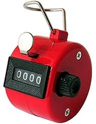 LUPO® 4 dígitos de mano Número Golf Tally Manual Contador Clicker Goleador (Rojo)