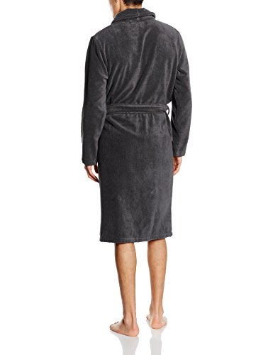 Tommy Hilfiger Herren Bademantel Icon Bathrobe Schwarz (MAGNET 884)