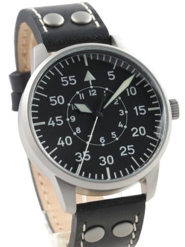 Laco Freiburg Type B Dial Hand Wind, Mechanical Pilot Watch 861791