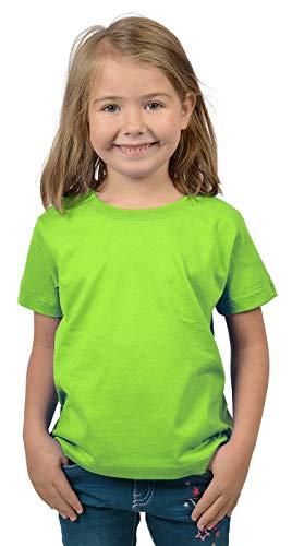 Mädchen-hellgrün (Bio-Baumwolle Kinder T-Shirt 2er Pack Mädchen hellgrün)