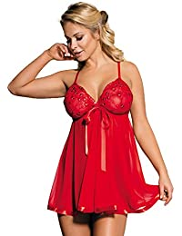 f70d9af4d3 Yummy Bee Lingerie Plus Size 6-30 Babydoll Nightwear Set Women Chemise  Sleepwear